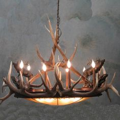 Love this beautiful Chandelier, real elk antlers. No animals harmed! Chandelier Lighting Fixtures, Mini Chandelier, Ceiling Light Fixtures, Chandeliers, Ceiling Lights, Deer Antler Chandelier, Antler Lights, Shed Antlers, Elk Antlers