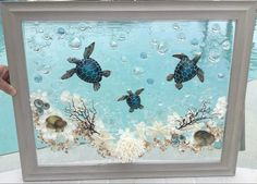 Ocean Crafts, Sea Glass Crafts, Sea Glass Art, Beach Crafts, Seashell Art, Seashell Crafts, Diy Resin Art, Resin Crafts, Pinterest Diy Crafts