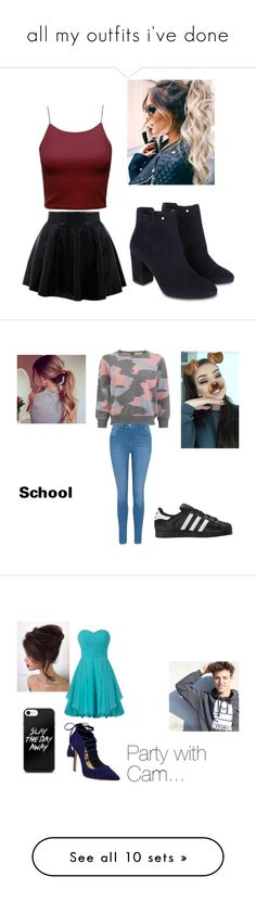 """""""all my outfits i've done"""" by leah-859 on Polyvore featuring Monsoon, George, adidas Originals, Schutz, beauty, EAST, Converse, River Island, WithChic and Disney"""