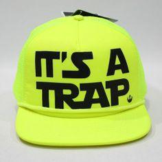 New Star Wars It's A Trap Neon Trucker Cap Travel Best Gift Party Hat Hip Surf | eBay