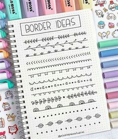 Bullet Journal School, Bullet Journal Inspo, Bullet Journal Lettering Ideas, Bullet Journal Banner, Bullet Journal Notebook, Bullet Journal Aesthetic, Bullet Journal Ideas Pages, Book Journal, Journals