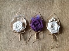 Burlap Boutonnieres Rustic Wedding on Etsy, $5.00