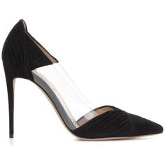 Valentino Valentino Garavani B-Drape Suede Pumps (9,010 EGP) ❤ liked on Polyvore featuring shoes, pumps, black suede pumps, black shoes, suede pumps, valentino shoes and suede leather shoes