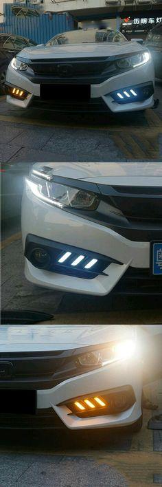 4x Carbon Fiber Car Side Door Handle Frame Cover Trim for Honda Civic 10th 16-19