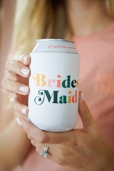Custom Maid of Honor Can Cooler Bachelorette Cooler Bachelorette Party Planning, Bachelorette Party Shirts, Bachelorette Weekend, Bridesmaid Gift Boxes, Bridesmaid Proposal, Bridesmaids, Future Mrs, Maid Of Honor, Dream Wedding