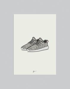 Hypebeast Poster Print Pop Culture Sneaker Poster Boost V1 History Poster