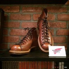 Red Wing Heritage New Lineman Boots. In the early 20th century, lineman was known as one of the most dangerous jobs. Lineman thus needed high degree of safety from their equipments. The style of footwear that they preferred was lace-to-toe. The design makes shoe lace goes from toe part, ensuring tight holding of feet.