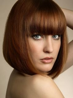 Pageboy Bob Hairstyle with Bangs                                                                                                                                                                                 More