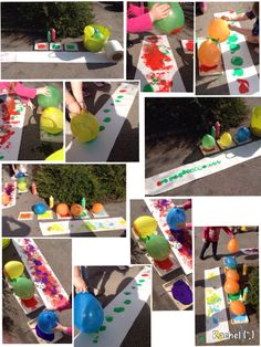 """Balloon printing outdoors from Rachel ("""",)"""