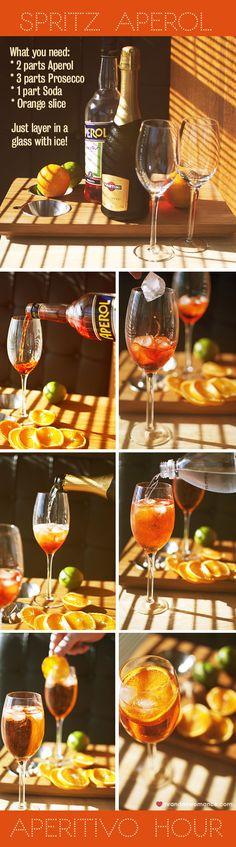 Mr and Mrs Romance: Aperitivo Hour - Spritz Aperol Recipe guide