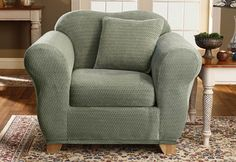 Sure Fit Slipcovers Stretch Royal Diamond Separate Seat - Chair