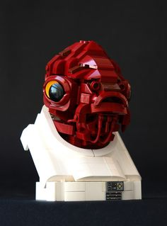 Lego Admiral Ackbar built by Eero Okkonen (kumipallomaa on Flickr) featured on BrickNerd.com - You can almost hear him yelling about a trap somewhere.