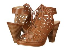 These cutout lace up sandals that come in other neutral colors like black and darker brown. | 36 Pairs Of Heels That Won't Hurt Your Feet