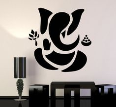 Vinyl Wall Decal Abstract Ganesha Hindu Hinduism Vedas God Stickers Unique Gift 45 in X 48 in / Black Ganesha Drawing, Ganesha Painting, Ganesha Art, Lord Ganesha, Ganpati Drawing, Ganesha Sketch, Ganesh Rangoli, Diwali Rangoli, Lord Shiva