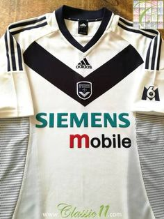 fce61b32905 Official Adidas Bordeaux away football shirt from the 2002 03 season.