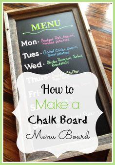 How to Make a Chalk Board Menu Board - so easy to make!