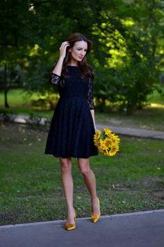 little black lacey dress