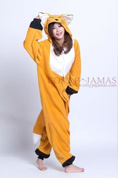 Fox Adult Onesie Kigurumi Pajamas - 78$