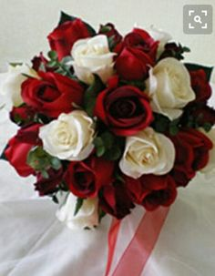 40 inspirational classic red and white wedding ideas pinterest red roses ivory roses and peruvian lilies for center pieces mightylinksfo