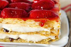 Simple strawberry mille-feuille - Recipes - Eat Well (formerly Bite) Xmas Food, Christmas Desserts, Millefeuille Recipe, Speedy Recipes, Impressive Desserts, Strawberry Tart, Fruit In Season, Serving Platters, Sweet Treats