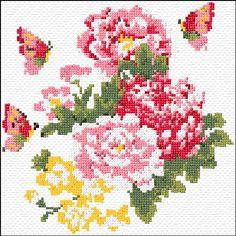 Cross Stitch | Peonies xstitch Chart | Design