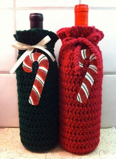 Wine Bottle Gift Bag Champagne and by KathysYarnCreations on Etsy, $7.50