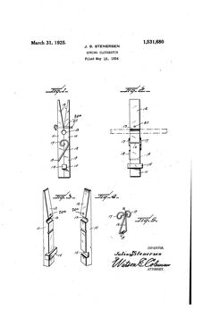 clothespin patent - Google Search