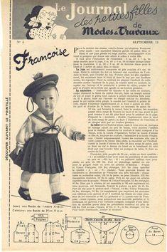PAR AMOUR DES POUPEES :: M&T 1953-09 costume marin pour Françoise (couture)