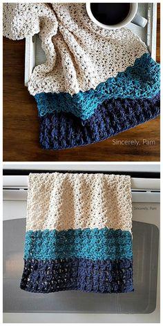 My Favorite Towel Free Crochet Pattern Crochet Dish Towels, Crochet Kitchen Towels, Crochet Dishcloths, Knit Or Crochet, Crochet Gifts, Free Crochet, Cotton Crochet Patterns, Knitting Patterns, Crochet Projects