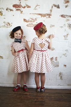 kids dressed up in a different era- too cute!