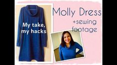 Molly Dress (Sew Over It): sewing footage + My take, my hacks.