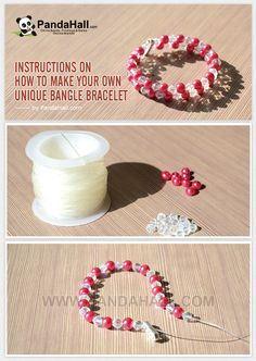 Instructions on How to Make Your Own Unique Bangle Bracelet from pandahall.com