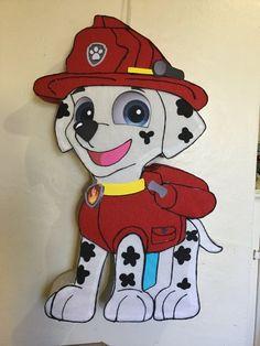 Marshall pinata. Paw patrol pinata Inspired. Puppis pinata. Paw patrol birthday Party. Paw patrol decoracion. Paw patrol Party supplies | Happy Party