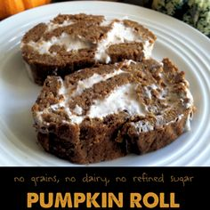 Pumpkin Roll with Coconut Flour - Gluten-free, Dairy-free, Wheat-free with delicious coconut icing