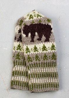 Toripolliisi voitti Paikkakuntien lapaset -kisan - Neulonta ja virkkaus - Suuri Käsityö Knitted Mittens Pattern, Knit Mittens, Knitted Gloves, Fingerless Mittens, Knitting Charts, Knitting Stitches, Knitting Patterns, Crochet Patterns, Crochet Christmas Decorations