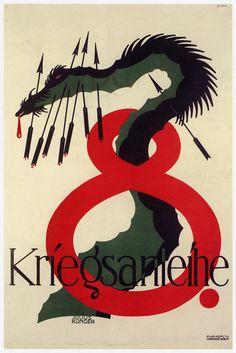 size: Art Print: War Loan For Germany by Julius Klinger : Vintage Wall Art, Vintage Posters, Poster Design, Graphic Design, Popular Artists, Animal Posters, Jpg, Typography Art, Map Art