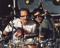 Grateful Dead, ca. 1987: Bill Kreutzmann and Mickey Hart