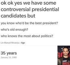 Lin for president 2020  Omg he is wearing. The American Idiot T-shirt!