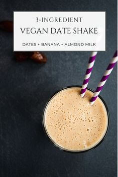 Refreshing, creamy and actually good for you, this vegan date shake is your ultimate sweet summer drink. Blend these three basic ingredients and enjoy a cool healthy milkshake in under 10 minutes. Healthy Milkshake, Oreo Milkshake, Vegan Desserts, Vegan Recipes, Snack Recipes, Vegan Blogs, Meatless Recipes, Cream Recipes, Delicious Recipes