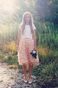 Fluttered Fete Midi Skirt by Eva Franco