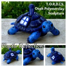T.O.R.D.I.S. Handmade Ooak Polymerclay T.A.R.D.I.S. Tortoise sculpture by Mystic Reflections