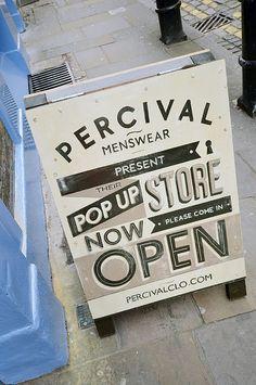 POP UP! Percival Pop up store, London store design