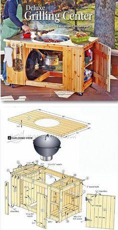 DIY Grilling Center - Outdoor Plans & Projects | WoodArchivist.com