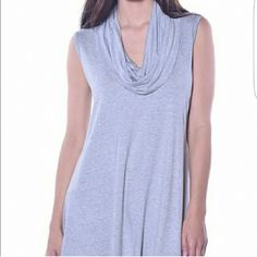 Heathered Grey Cowl neck tunic Cowl neck tunic in Heathered Grey 95% Viscose, 5% Spandex ☆ Made in USA ☆ Brand new and unused retail merchandise  ♡ Modeled photos courtesy of Pastels Clothing Pastels Clothing Tops Tunics