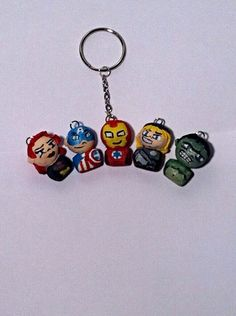 Avengers Key Chain Vol. I by TheChicGeekOutlet on Etsy