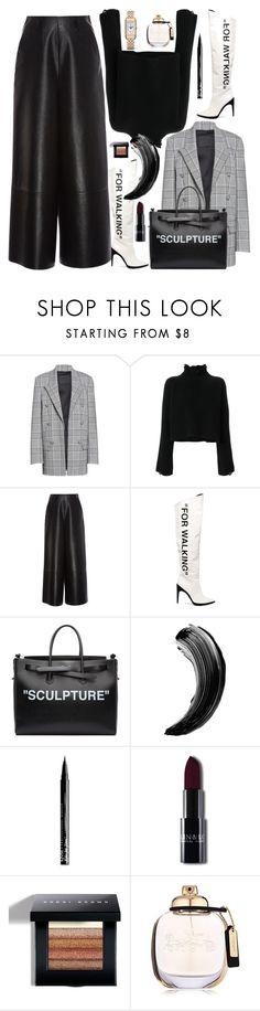 """Untitled #4110"" by fashionhypedaily ❤ liked on Polyvore featuring Alexander Wang, Golden Goose, Lanvin, Off-White, NYX, Bobbi Brown Cosmetics, Coach and Jaeger-LeCoultre"