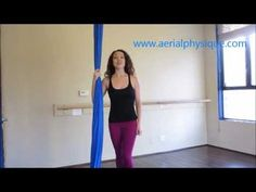 "Learn how to do the ""Bicycle Climb"" with Jill Franklin of Aerial Physique. Order BEGINNERS GUIDE TO AERIAL SILK on Amazon.com to learn more! *DO NOT PRACTICE..."