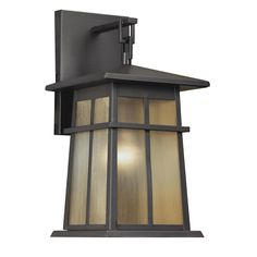Shop Portfolio Amberset 16.75-in H Specialty Brozne Outdoor Wall Light at Lowes.com