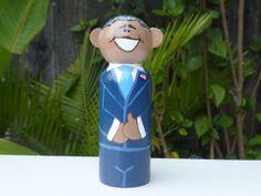 President Obama Whittle Peg Doll by WinkysWhittles on Etsy, $18.00