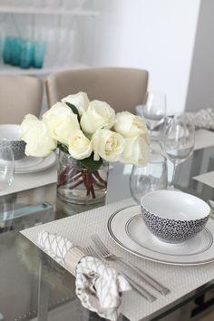 Create an Elegant Black & White Table Setting